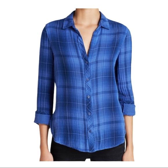 Bella Dahl plaid long sleeve button down shirt